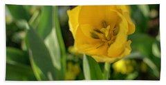 Yellow Tulip Hand Towel