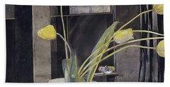 Yellow Tulips By Charles Rennie Mackintosh Hand Towel