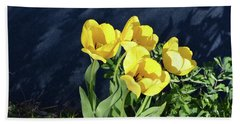 Yellow Tulips Hand Towel by Kathleen Stephens