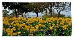 Yellow Tulips Of Fairhope Alabama Hand Towel