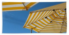 Yellow Umbrella Hand Towel