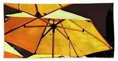 Yellow Umbrellas Bath Towel