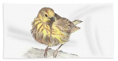 Yellow Warbler Bath Towel