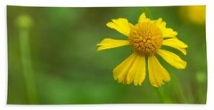Yellow Wildflower Bath Towel by Christopher L Thomley