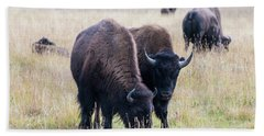 Bath Towel featuring the photograph Yellowstone Bison by Jennifer Ancker
