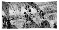 Yellowstone Canyon In Monochrome Hand Towel