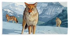 Yellowstone Coyotes Bath Towel