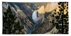 Bath Towel featuring the photograph Yellowstone Falls by Jennifer Ancker