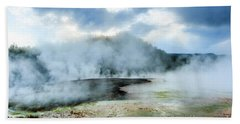 Yellowstone Geysers Hand Towel