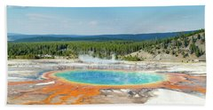 Yellowstone Grand Prismatic Spring  Hand Towel