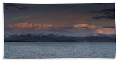 Yellowstone Lake At Sunset Bath Towel