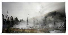 Yellowstone Morning Fog Hand Towel