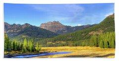 Yellowstone National Park Landscape Hand Towel by Juli Scalzi