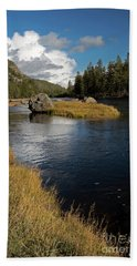 Yellowstone Nat'l Park Madison River Hand Towel by Cindy Murphy - NightVisions