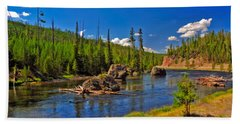 Yellowstone River Hand Towel
