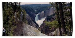 Yellowstone Water Fall Hand Towel