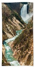Yellowstone Waterfalls Hand Towel