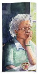 Hand Towel featuring the painting Yesterday's Gone by Marilyn Smith