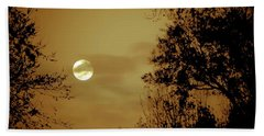 Yesteryears Moon Bath Towel by DigiArt Diaries by Vicky B Fuller