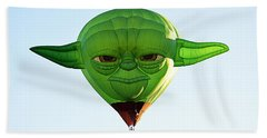 Bath Towel featuring the photograph Yoda  by AJ Schibig