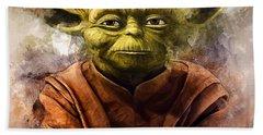 Yoda Art Bath Towel