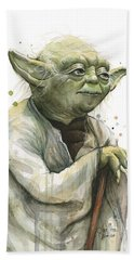 Yoda Watercolor Hand Towel