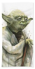 Yoda Watercolor Hand Towel