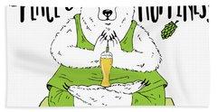 Yoga Beer Bear Hand Towel