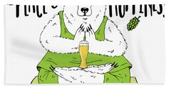 Yoga Beer Bear Hand Towel