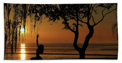 Yoga By The Bay At Sunset Bath Towel