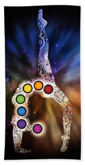 Yoga Chakra Art Hand Towel by Serena King