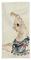 Yoga Exercise Japan 1800s Hand Towel