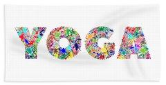 Yoga Word Art Hand Towel