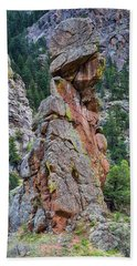 Bath Towel featuring the photograph Yogi Bear Rock Formation by James BO Insogna