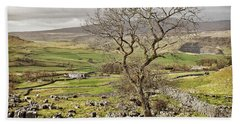 Yorkhire Dales Limestone Landscape Bath Towel