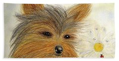 Yorkie Summer Fun Bath Towel