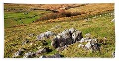 Yorkshire Dales Limestone Countryside Bath Towel