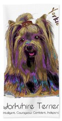 Yorkshire Terrier Pop Art Bath Towel