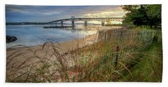 Yorktown Beach Sunrise Virginia Bath Towel