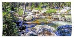 Yosemite Boulder Stream Hand Towel
