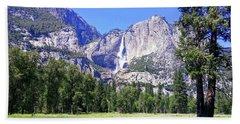 Yosemite Valley Waterfall Hand Towel