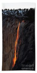 Yosemite Fire Falls - 2016 Bath Towel
