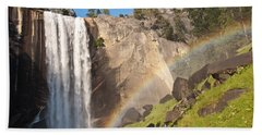 Yosemite Mist Trail Rainbow Bath Towel