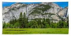 Yosemite Valley Meadow Panorama Bath Towel