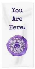 You Are Here Bath Towel