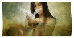 You Bird Of Freedom And Peace Hand Towel