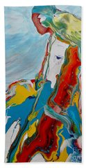 Bath Towel featuring the painting You Bring The Color by Deborah Nell