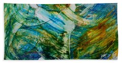 Bath Towel featuring the painting You Make Me Brave by Deborah Nell