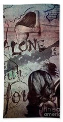Hand Towel featuring the mixed media You by Mo T