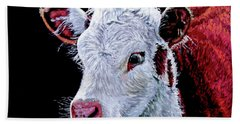 Young Bull Hand Towel by Stan Hamilton